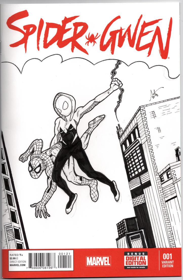 Spider-Gwen 1 Sketch cover by ALaVerghetta