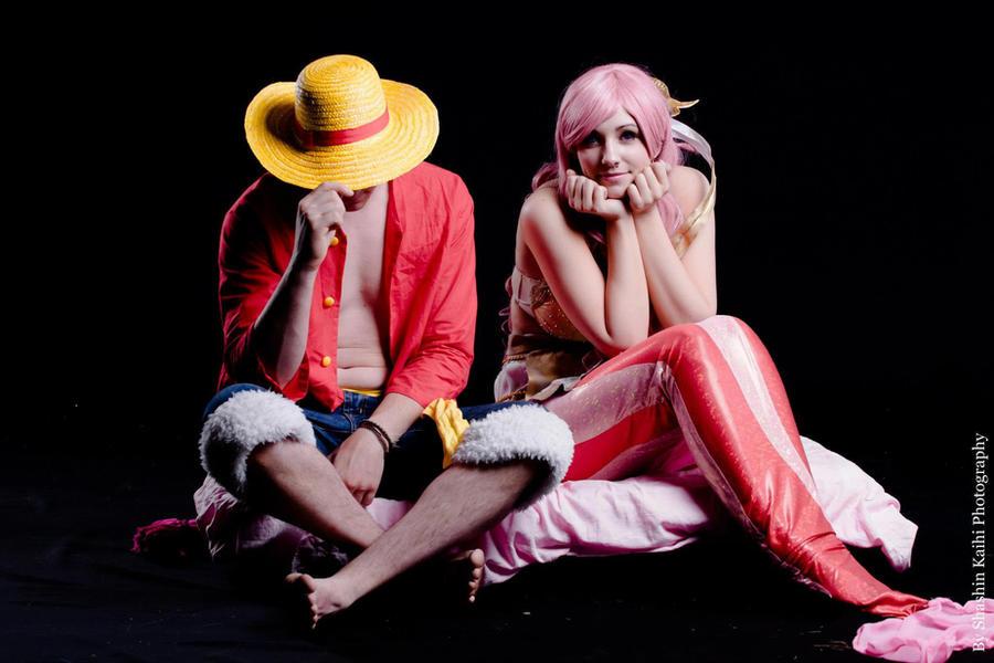 Shirahoshi and Luffy-sama by MadeInHeaven1979