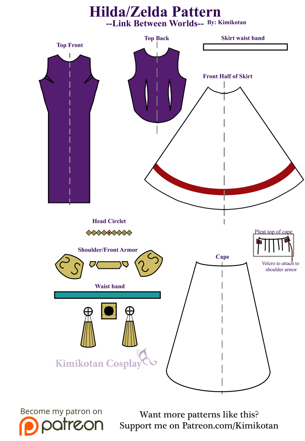 Hilda/Zelda Cosplay Pattern by Kimikotan on DeviantArt