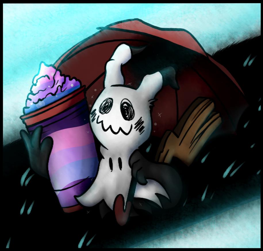 Draw Along:Mimikyu (Shiny and Undertale version) by TheFuzzyNote
