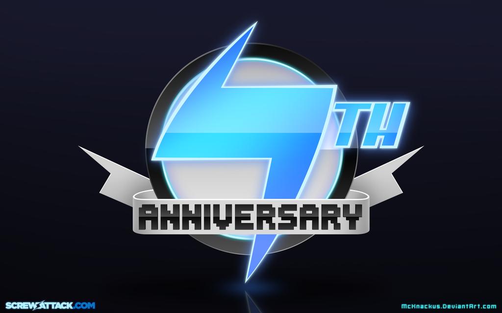 ScrewAttack Logo Desktop: 7th Anniversary Edition by McKnackus