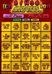E3 2013 HARD MODE BINGO by McKnackus