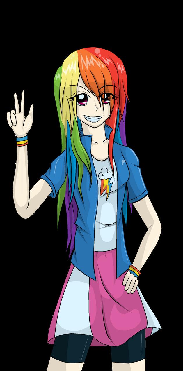 Equestria Girls Rainbow Dash By Gerardwei