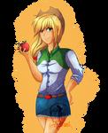 Equestria Girls: Applejack by Gerardwei