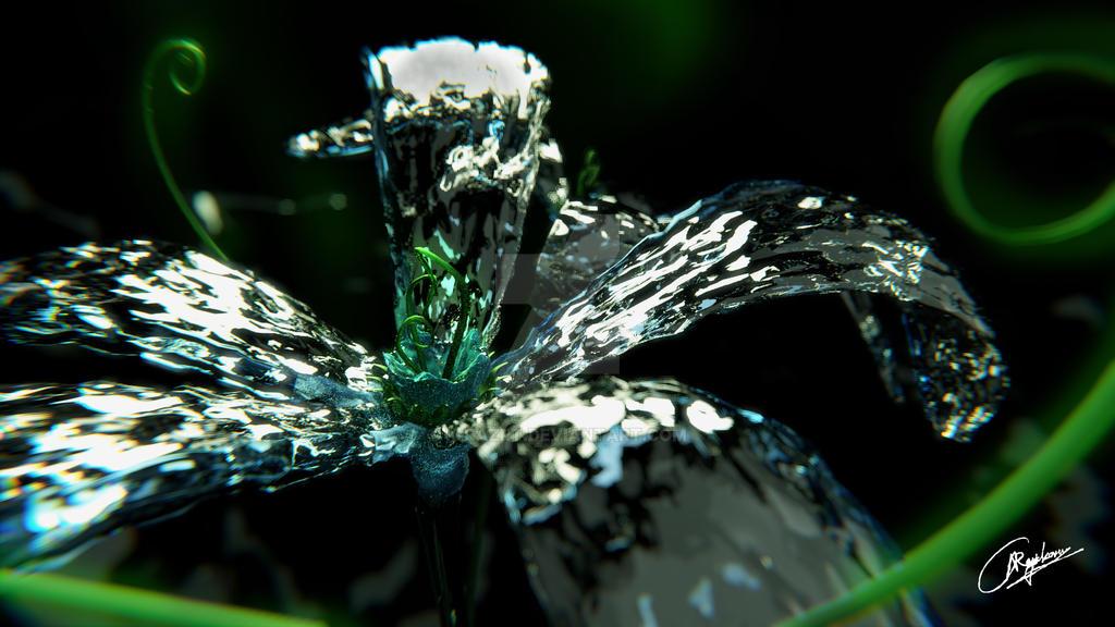 Water Bloom-Ice flower by k-raZRt