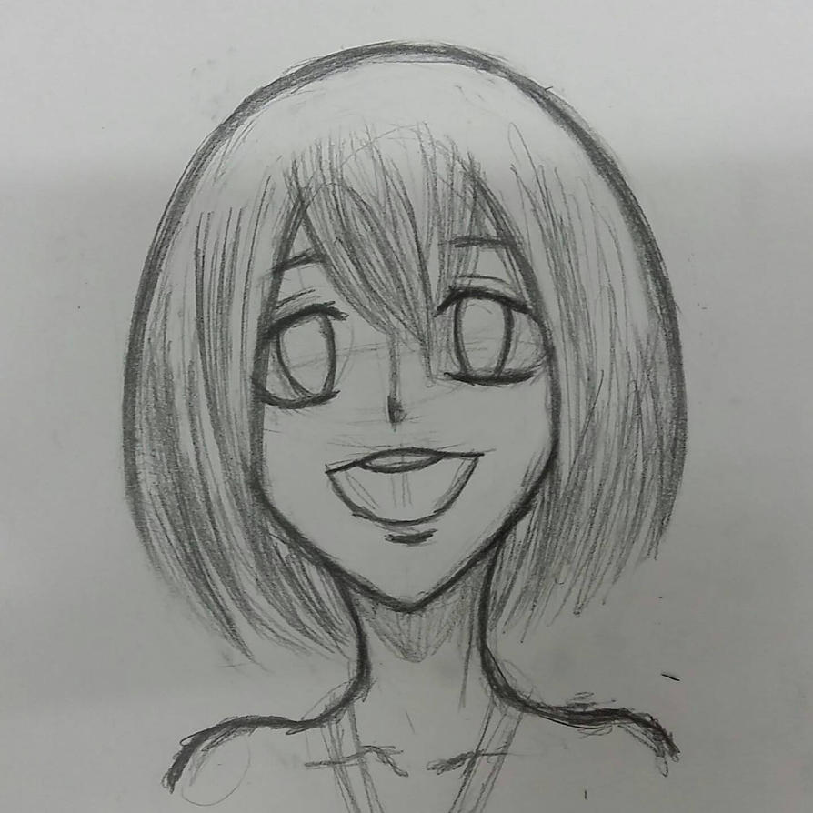 Sketch of a young girl  by LostSaberWolf