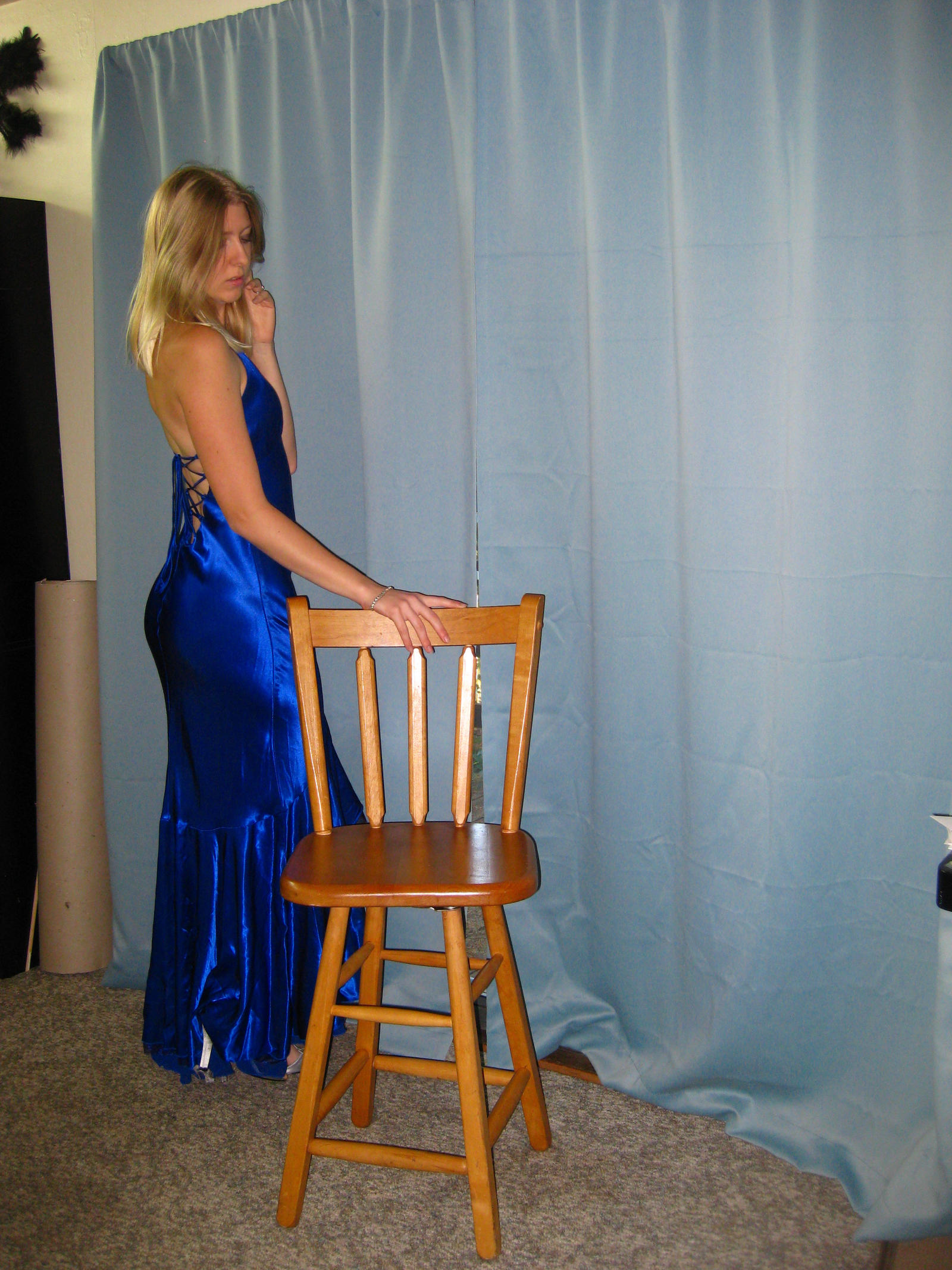 Elegant Blue Dress 21 by Danika-Stock