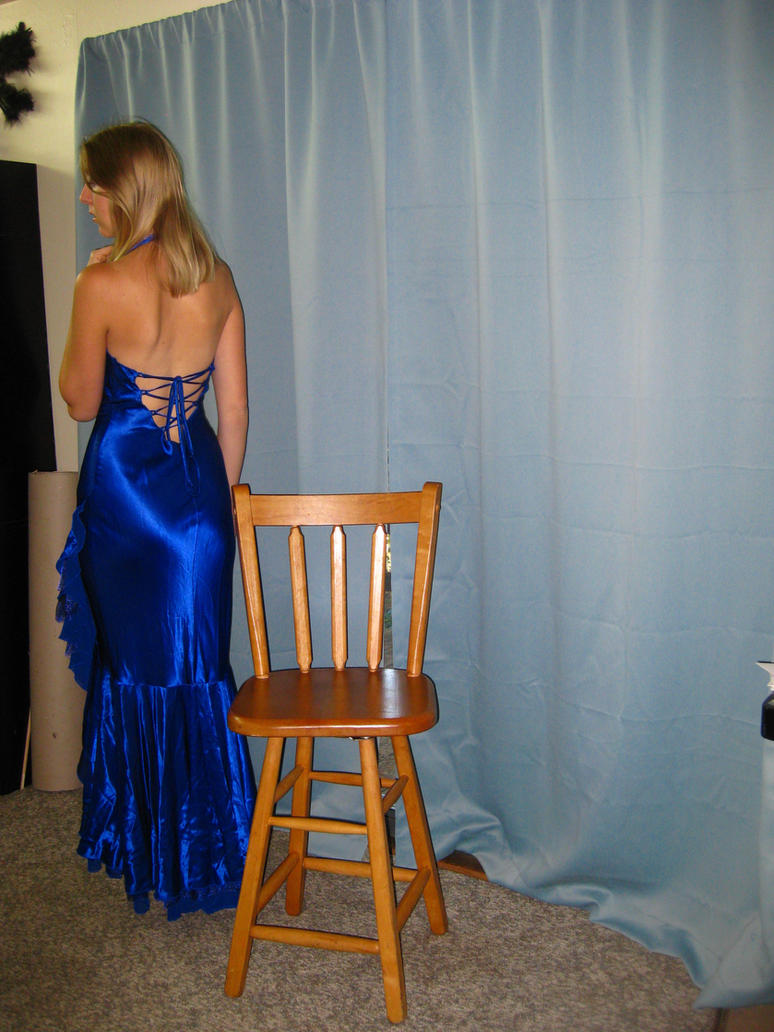 Elegant Blue Dress 20 by Danika-Stock