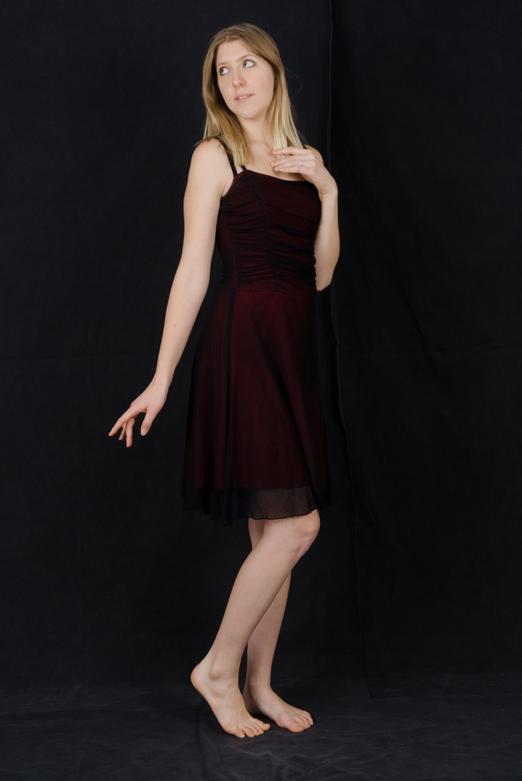 Black and Red Dress by Danika-Stock