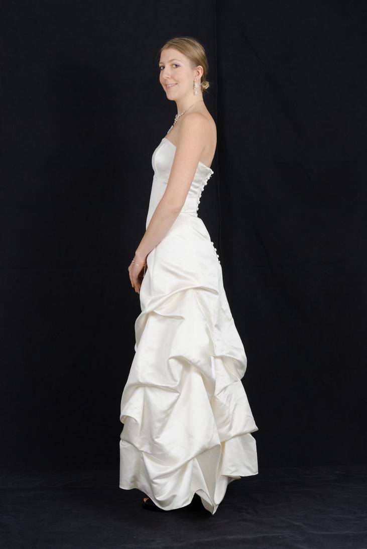 Wedding Dress Side Profile by Danika-Stock on DeviantArt