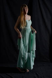 Side Lighting - Standing - Holding Dress