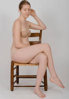 Body Reference - Sitting in Chair- Legs Crossed by Danika-Stock