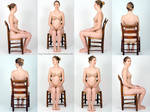 Body Reference - Sitting in Chair- Stock Pack