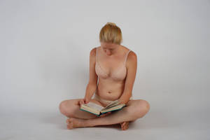 Body Reference - Sitting - Book in Lap by Danika-Stock