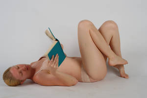 Body Reference - Lying on Back - Reading by Danika-Stock
