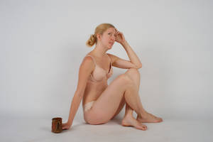 Body Reference - Sitting - Cup on Ground - Relaxin by Danika-Stock