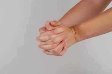 Anatomy - Hands - Clasped by Danika-Stock