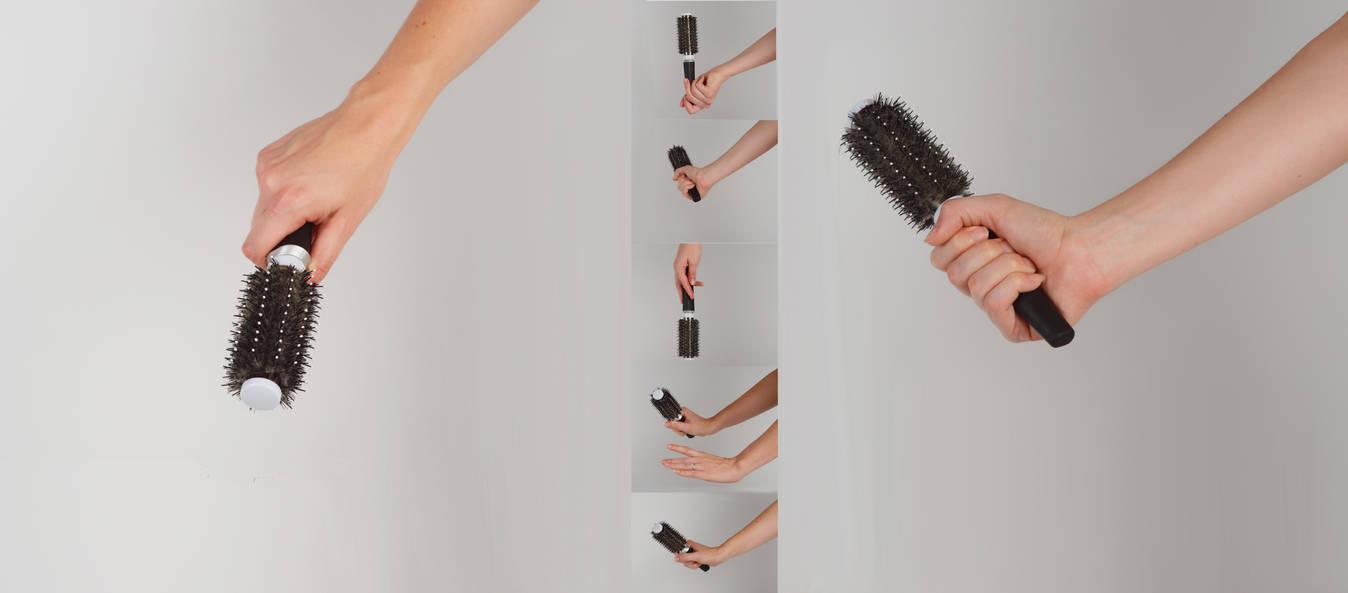 Holding Hair Brush Stock by Danika-Stock