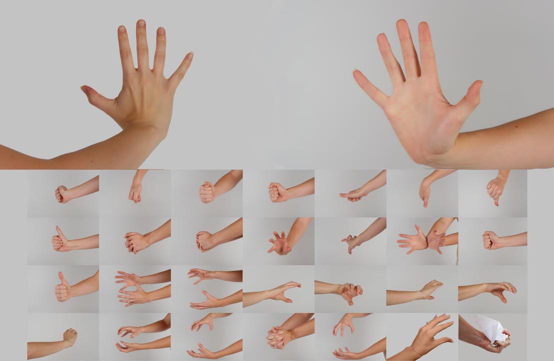 Hand Poses Stock Pack by Danika-Stock