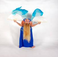 Belly Dancing - Fan Veils - Back-bend by Danika-Stock