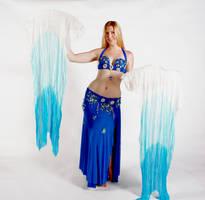 Belly Dancing - Fan Veils - Displayed by Danika-Stock