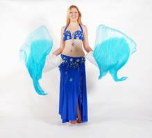 Belly Dancing - Fan Veils - Facing Forward by Danika-Stock