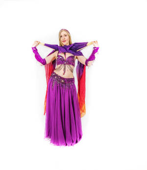Belly Dancing - Fan Veils - Closed - Crisscrossed