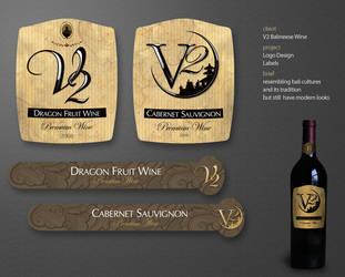 V2 Wine Labels by andinobita
