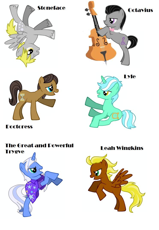 My Little Pony Genderbenders by KagutsuchiX