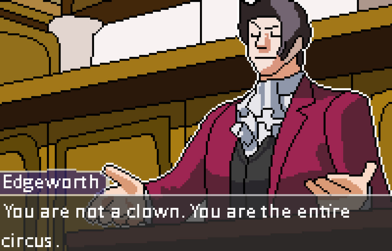 Edgeworth Phoenix Wright Ace Attorney By Lilnoykhauz3 On Deviantart