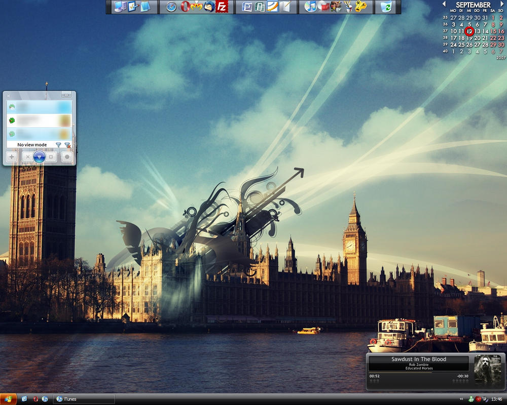 My current Windows XP Desktop by Lustmusket3000