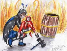 El barril funebre y el chapulin oscuro