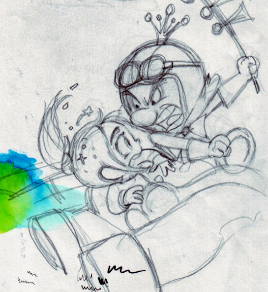 King Candy and Vanellope's battle (sketch) by ... Vanellope And King Candy