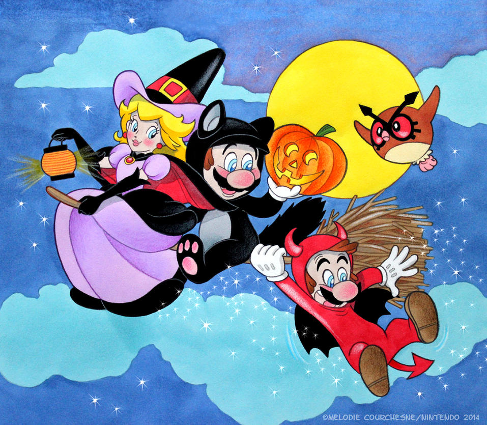 Halloween Greetings From Mario By Turbotastique On Deviantart