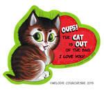 Vintage Valentine card (Cat)!
