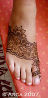 melissa foot henna