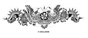 henna pattern back