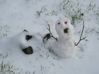 zombi snowman by arcanoide