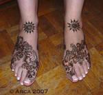 sabrine henna feet