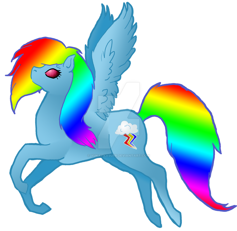MLP - Rainbow Dash by Yukai-Kasumi