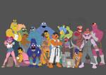 Sesame Street Fighter WIP by sanjota