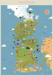 Game of Thrones - Westeros map