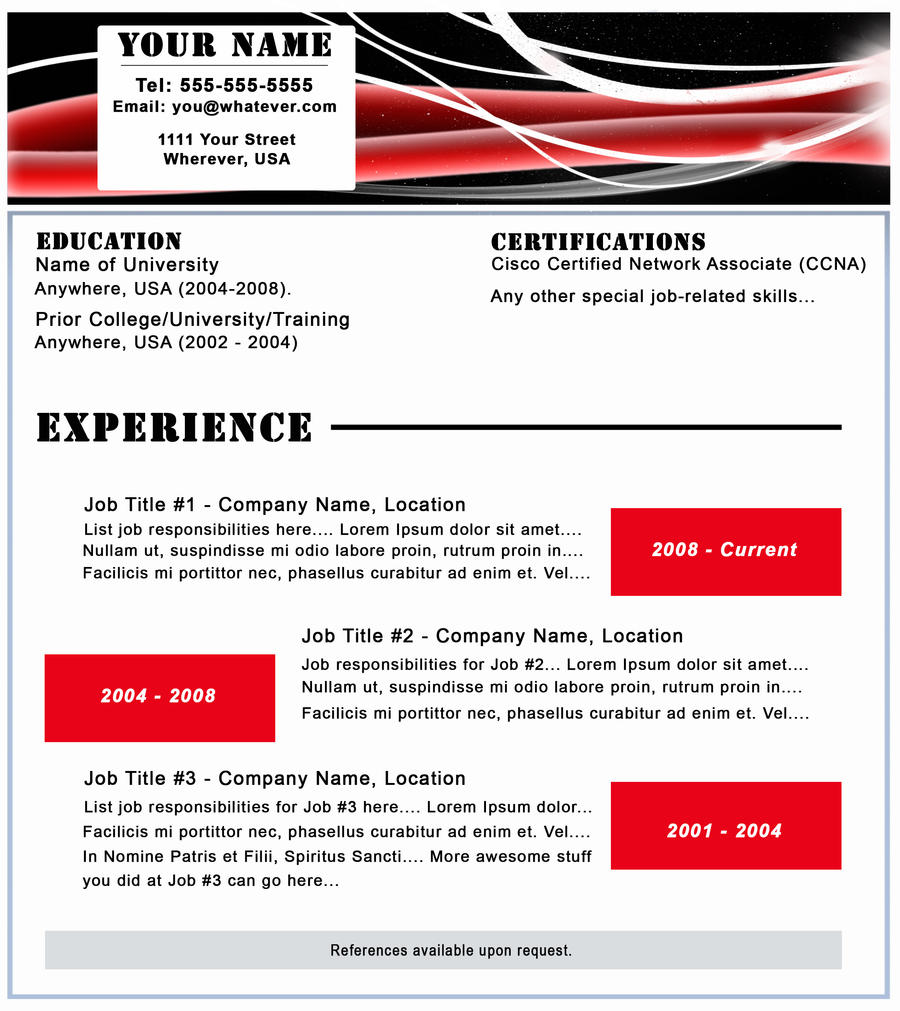 resume forms
