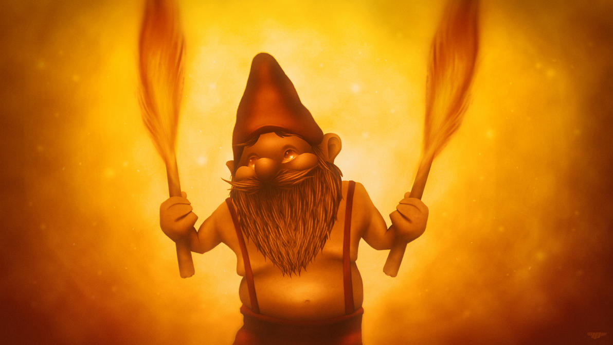 Fire Gnome by IgorPosternak