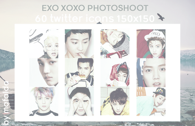 EXO | 60 TWITTER ICONS PACK 01_XOXO PHOTOSHOOT by iamsobizarre