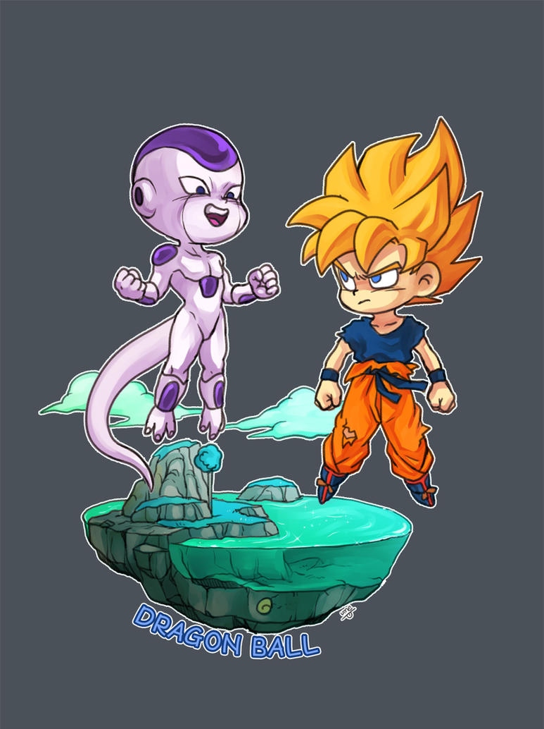 goku vs freezer by oume12