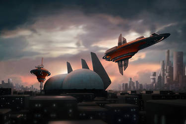 Space  Port by Jizba