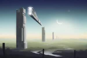 Towers on the Plain by Jizba