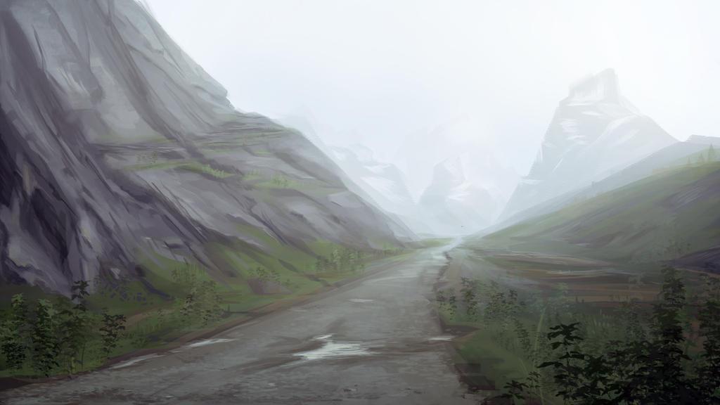 Post Study Mountain Sketch by Jizba
