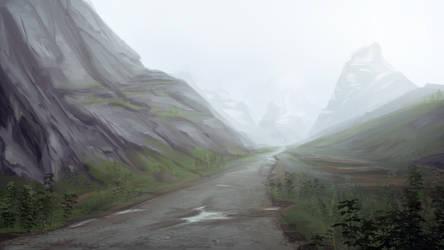 Post Study Mountain Sketch